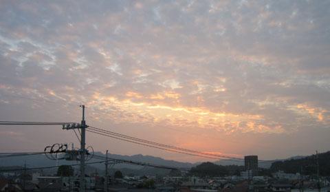 夕方のお空
