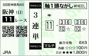 2013 宝塚記念 3連単