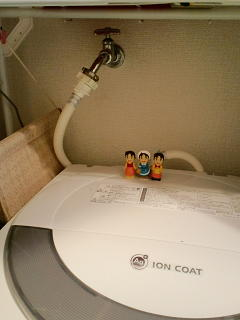 洗濯機の上の
