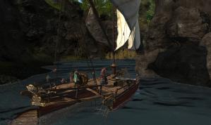 処女航海中