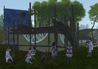 草屋根設置1