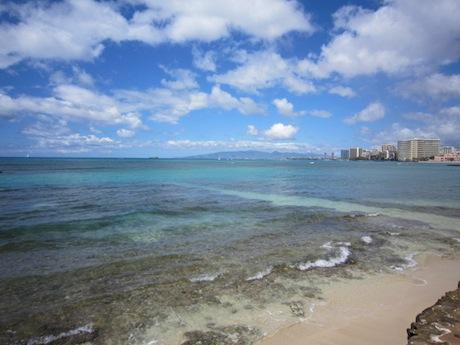 ここまで来ると海が綺麗