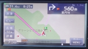 7:38 出発時に目的地をセットしたナビの画面