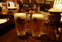 19:18 生ビール中 490円×2