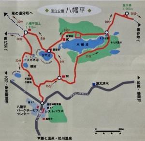 山頂のマップ