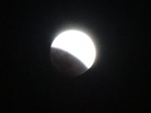 月食です!