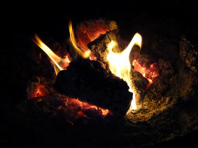 暖かい焚き火