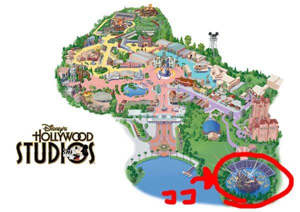 ハリウッドスタジオ 地図
