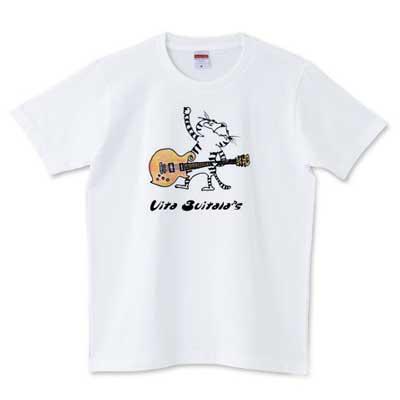 ねこギターTシャツ-1