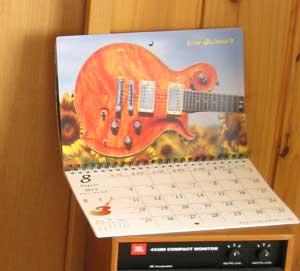 ギターカレンダー作製-2