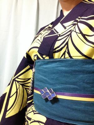 帯まわり(ネオンカラー浴衣)