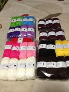 おざぶ用の毛糸を補充☆