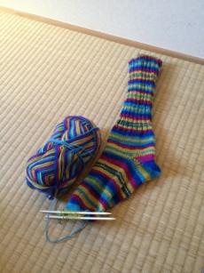 初の靴下(片方w)