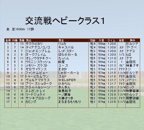 第4レース ヘビークラス1