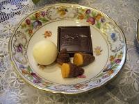 チョコレートをのせて