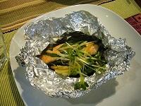 鮭と豆腐の蒸し物