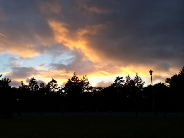 131016御所の秋の夕空