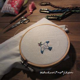 小鳥の刺繍2