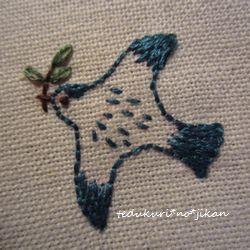 小鳥の刺繍3