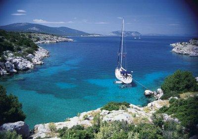 ギリシャの海と船