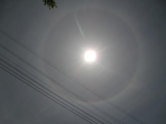 日暈の写真
