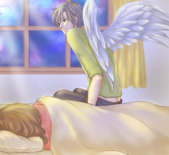 ベッドサイドの天使