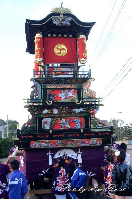 石水巴会 上町屋台(加美町だんじり) 石岡神社祭礼2012 愛媛県西条市氷見
