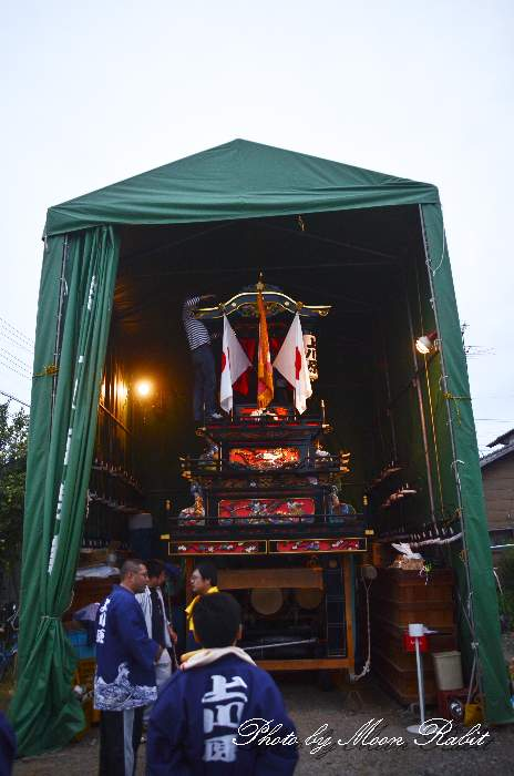 上川原屋台仮設格納庫(テント) 西条祭り2013