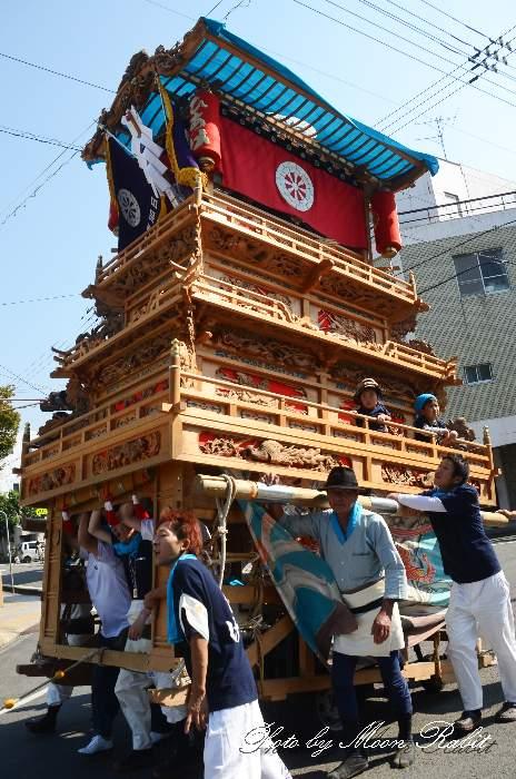 七泰会 日明屋台(だんじり) 御殿前 西条祭り2012 愛媛県西条市明屋敷