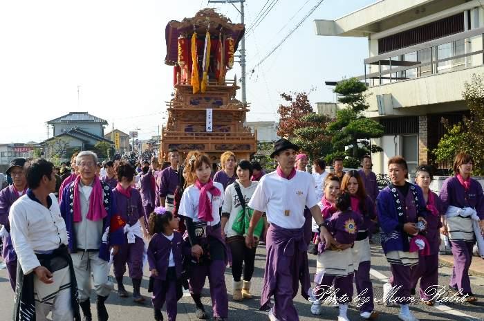 玉津橋 市塚屋台(だんじり) 西条祭り 伊曽乃神社祭礼 愛媛県西条市
