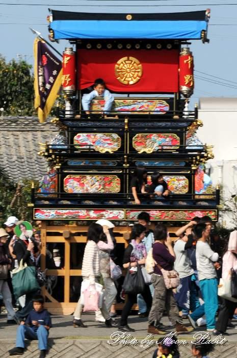 中野屋台(だんじり) 玉津 西条祭り 伊曽乃神社祭礼 愛媛県西条市 玉津橋