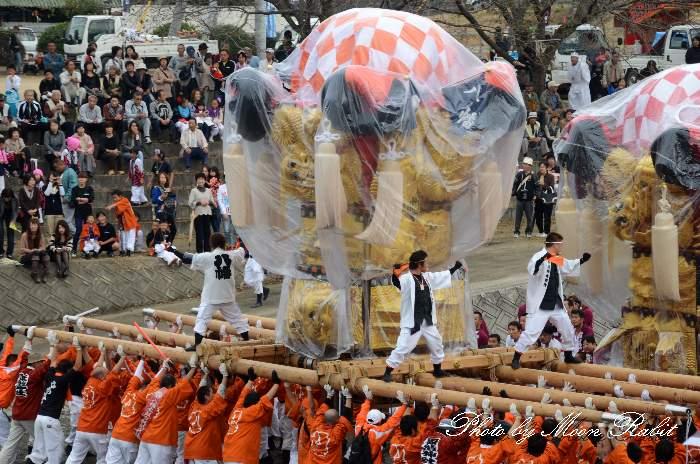 八幡太鼓台 渦井川原かきくらべ 飯積神社祭礼2012 愛媛県西条市