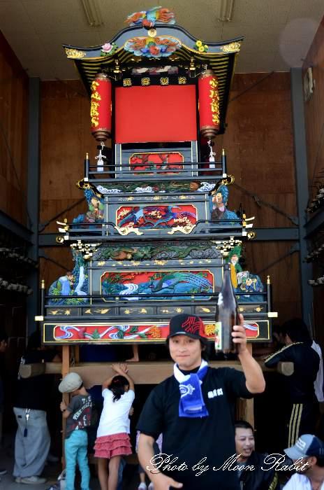 魚屋町だんじり(屋台) 組み立て 愛媛県西条市本町3丁目 西条祭り2013