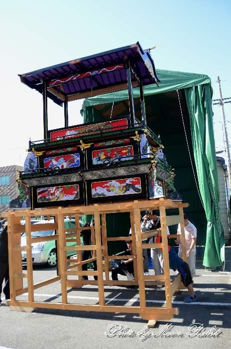 松之巷屋台仮設格納庫(テント) 西条祭り2013 愛媛県西条市