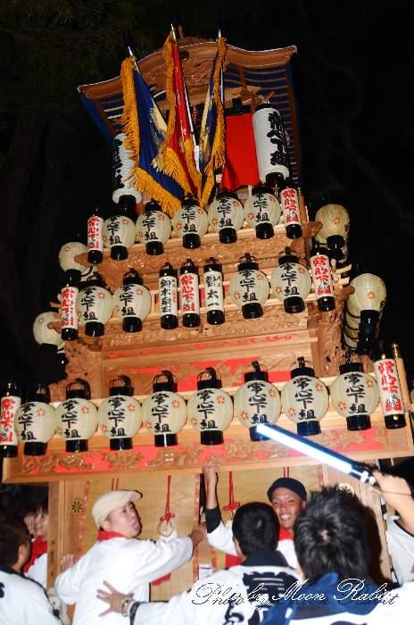 常心下組屋台(中南だんじり) 宮出し 伊曽乃神社祭礼 西条祭り2013