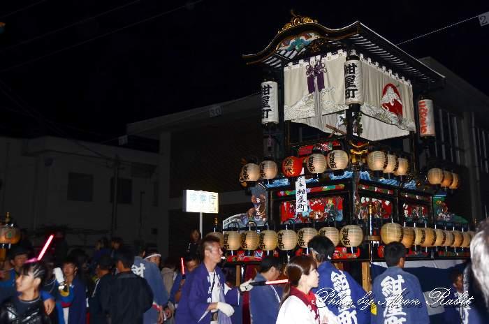 紺屋町屋台(だんじり) 後夜祭 御殿前 愛媛県西条市明屋敷 西条祭り2013