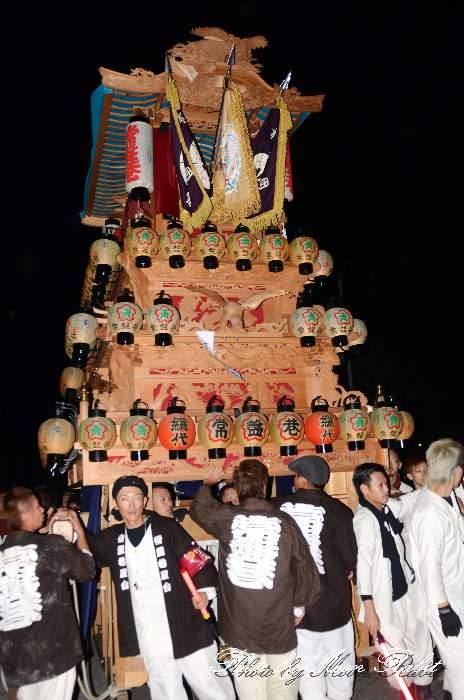 常盤巷屋台(だんじり) 後夜祭 御殿前 愛媛県西条市明屋敷 西条祭り2013