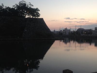 今治城2(朝焼け)