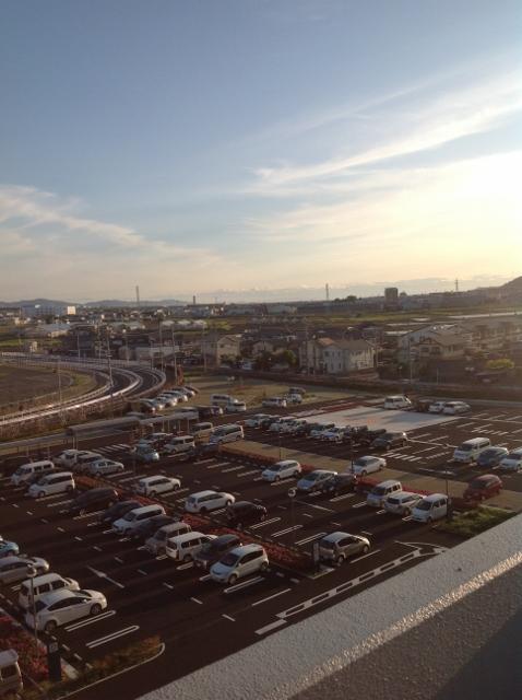 駐車場からの風景