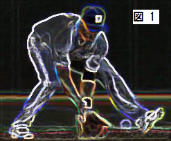 内野ゴロ捕球図MLB2