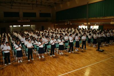 学校祭集会8