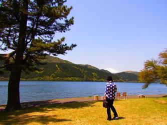 湖畔富士山