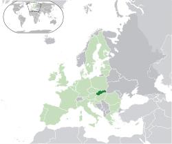 スロバキア地図