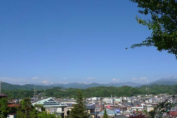 笠ヶ岳 白馬 雪渓 田植え