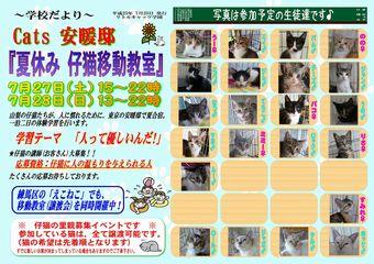 Cats安暖邸ポスター移動教室7Pm