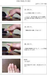 右指の角度と爪の長さ