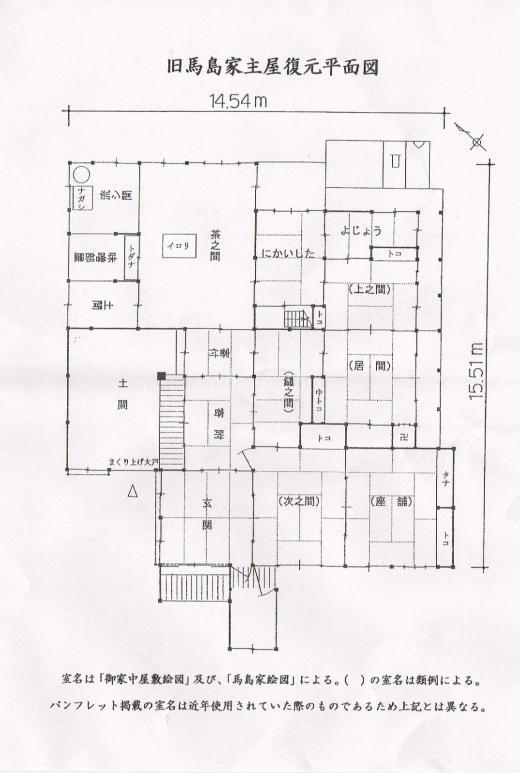 馬島家平面図