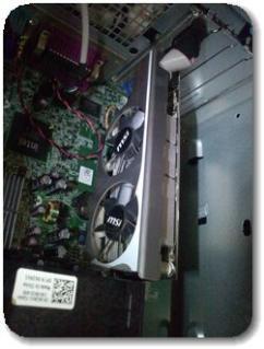 DELL780MTパソコンにグラフィックボード交換