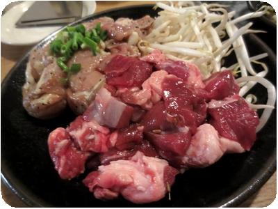 鶏のコリコリ焼&ラム肉?焼