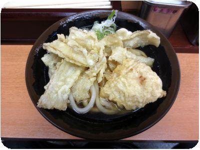 ごぼう天うどん+鶏天